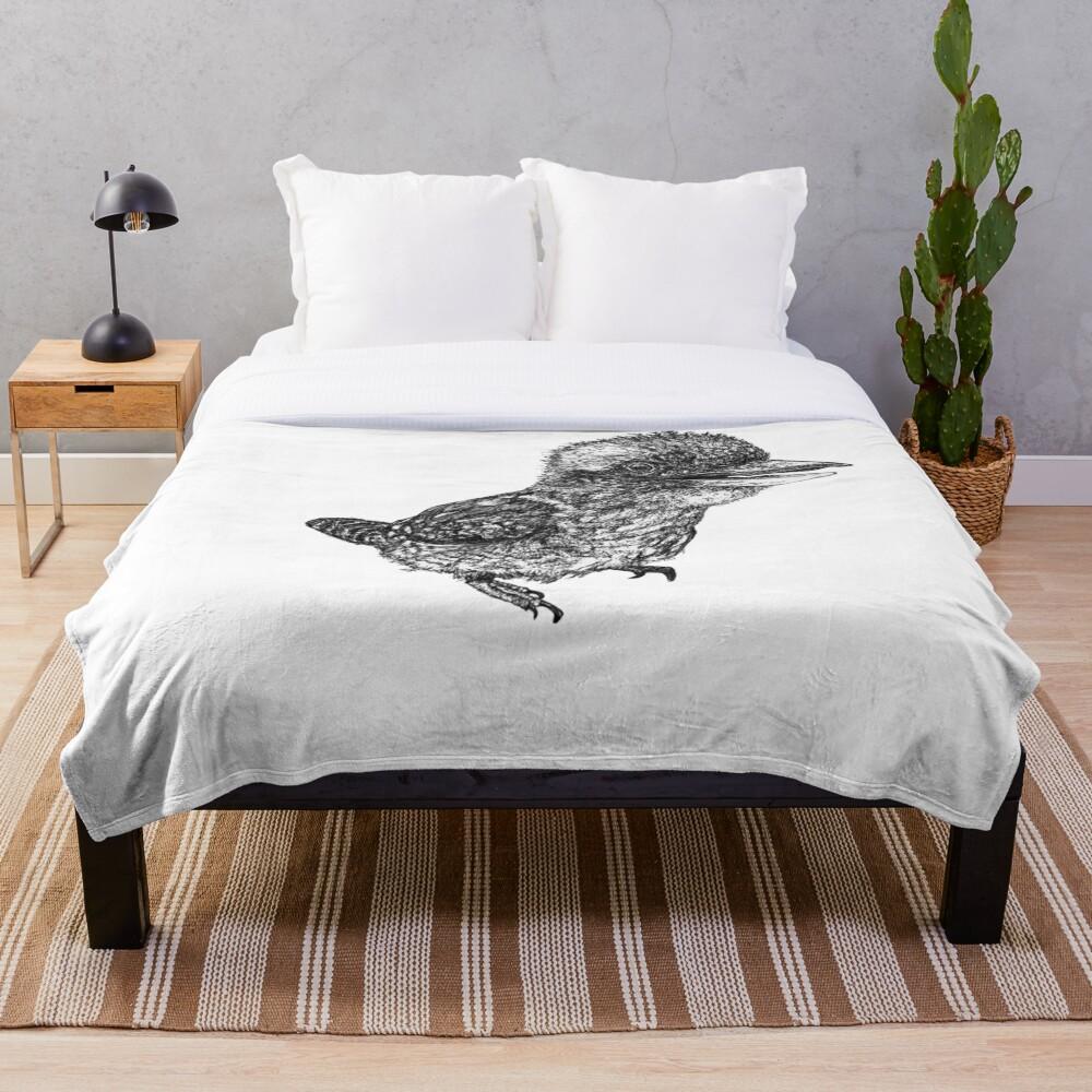 Mu Mu the Kookaburra Throw Blanket