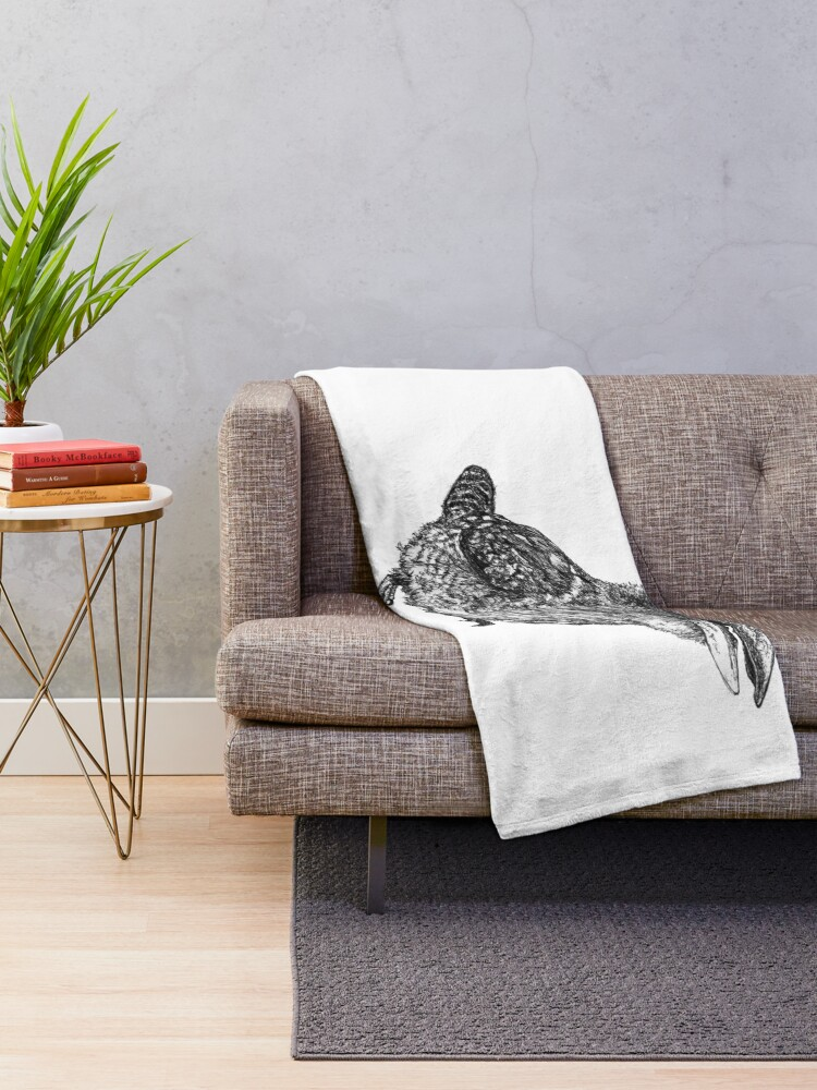 Alternate view of Mu Mu the Kookaburra Throw Blanket