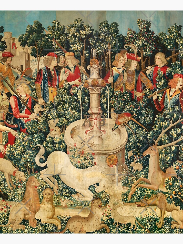 UNICORN IS FOUND / Fountain,Other Animals,Green Floral by BulganLumini