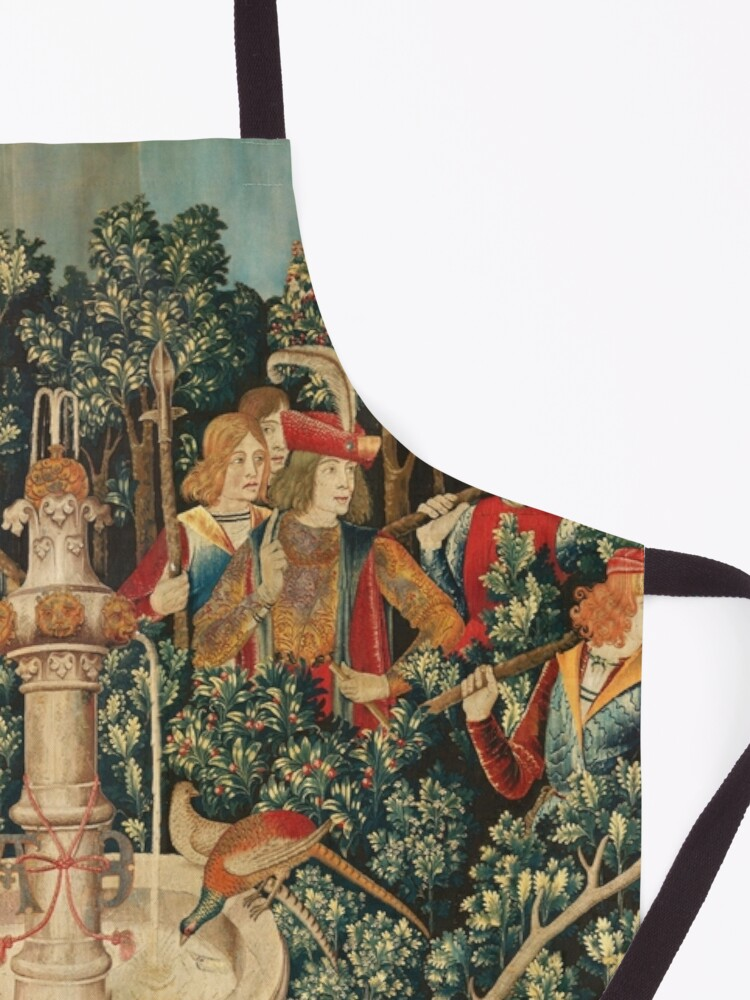 Alternate view of UNICORN IS FOUND / Fountain,Other Animals,Green Floral Apron