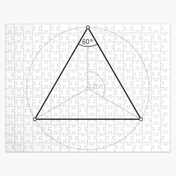 Regular triangle,  polygon, Dihedral, angle, Dual polygon, Convex, cyclic, equilateral, isogonal, isotoxal Jigsaw Puzzle