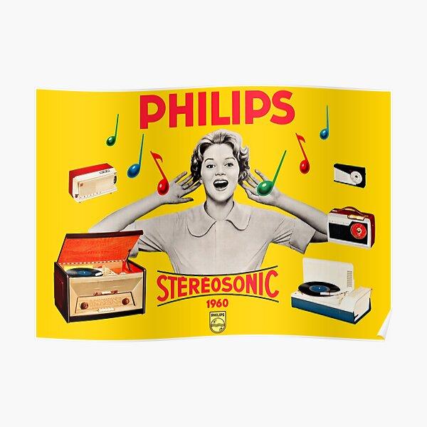 PHILIPS STEREOSONIC RANGE - 1950s ADVERT Poster