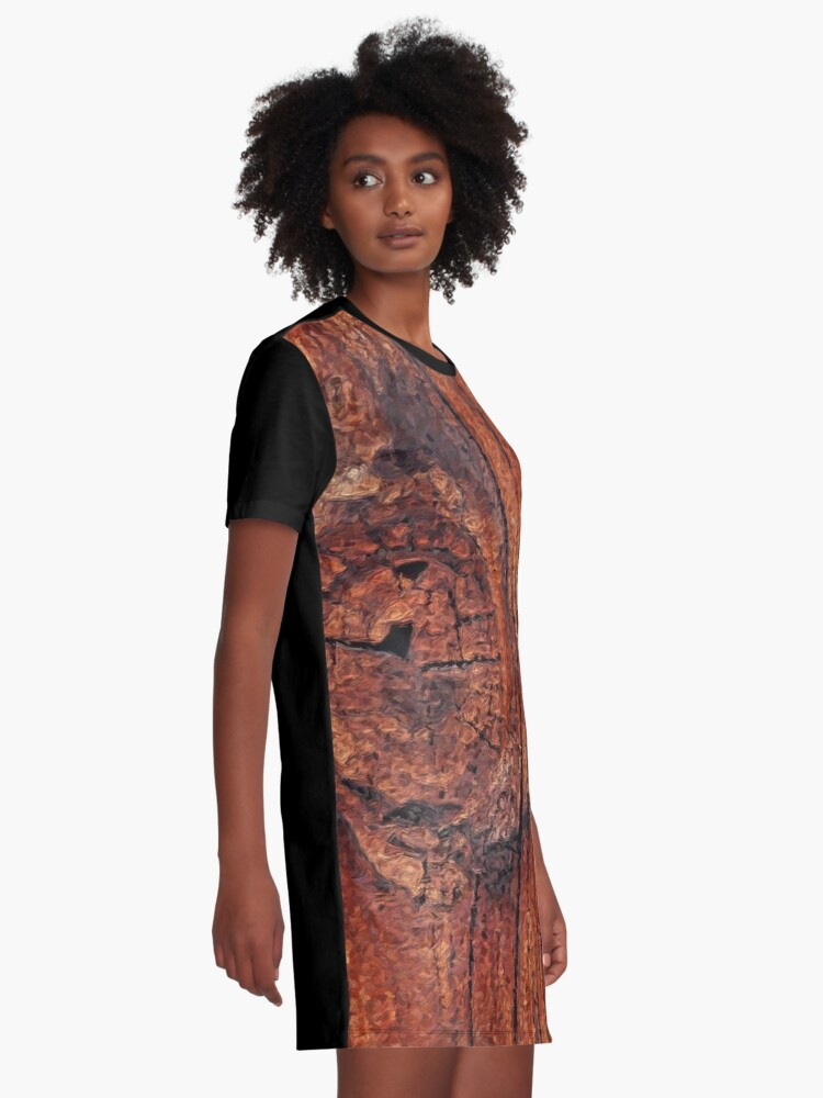 Alternate view of Wood Knot Graphic T-Shirt Dress