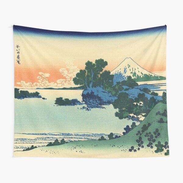"Japanese Woodblock Prints Ukiyo-e - ""Shichiri beach in Sagami Province / 相州七里浜"" by Hokusai Tapestry"