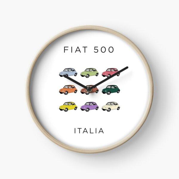 Italy's Original Small Car, The Classic Fiat 500, Cinquecento City car Clock