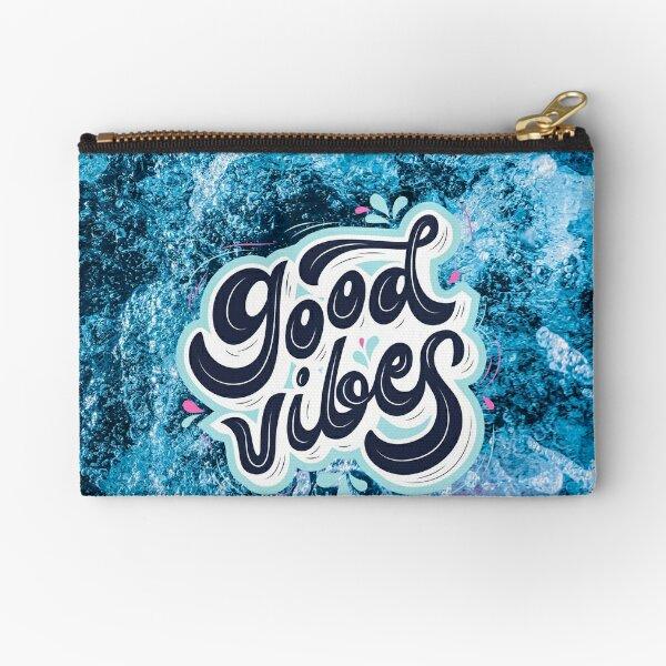 Blue Ocean Good vibes  Zipper Pouch
