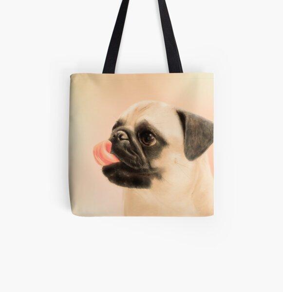Pug All Over Print Tote Bag