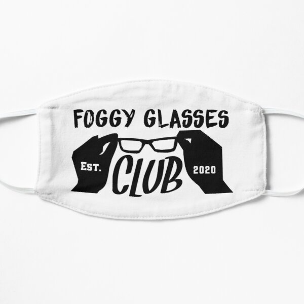 Foggy Glasses Club Est 2020 meme illustration Mask