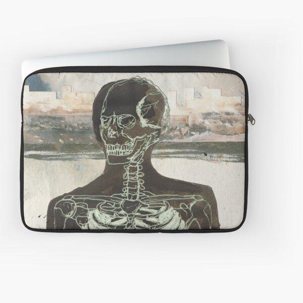 The Naked Stare Skeleton Design  Laptop Sleeve