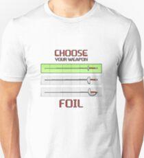 Wähle deine Waffe - Folie Slim Fit T-Shirt