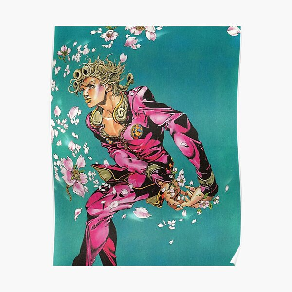 Fashion Flower Blue Poster