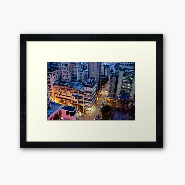 Night Streets of Hong Kong Framed Art Print