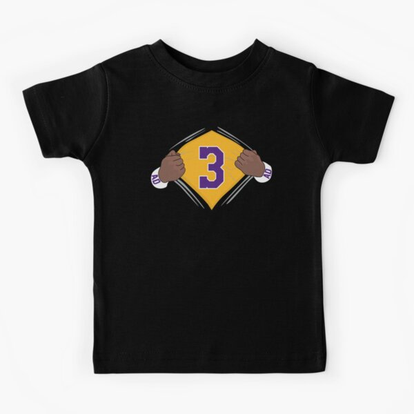 Anthony Davis 3 Baloncesto de Los Angeles Lakers Camiseta para niños