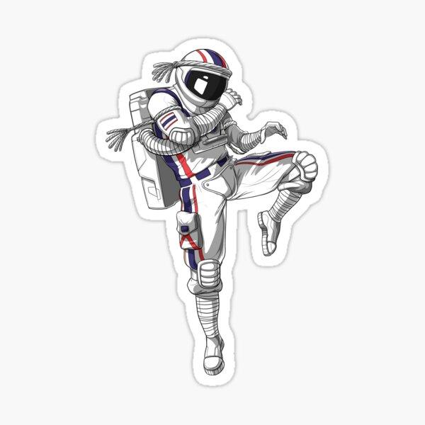 Muay Thai Astronaut Sticker