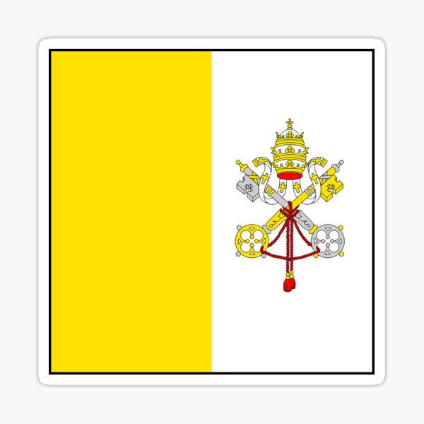 Vatican City Flag Gifts, Masks, Stickers & Products Sticker