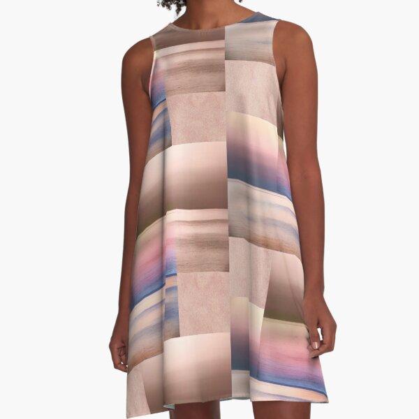 Colours of Crete A-Line Dress
