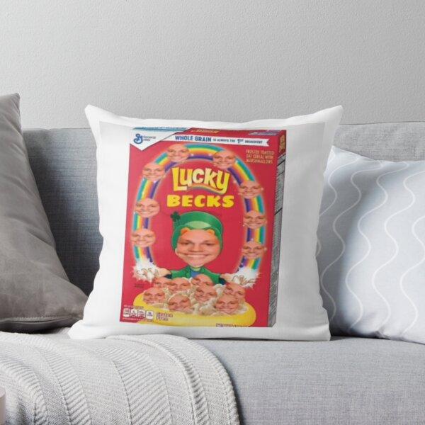 Lucky becks Throw Pillow