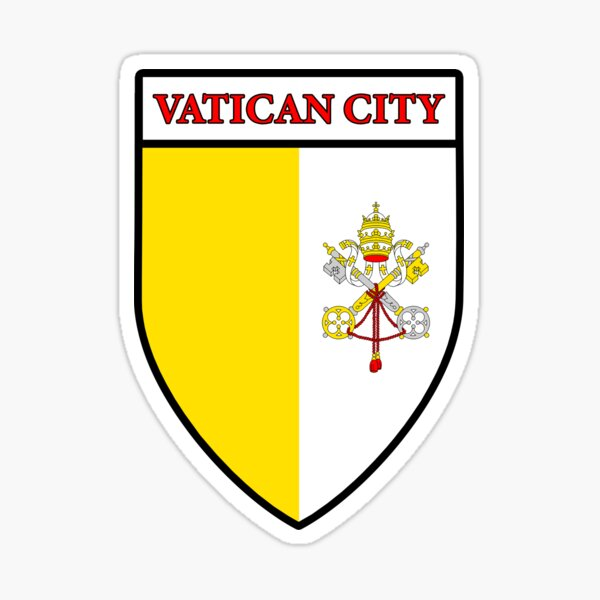 Vatican City Flag Gifts, Masks, Stickers & Products (GF) Sticker