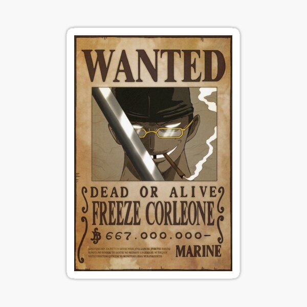 Wanted Freeze Corleone 667 Sticker