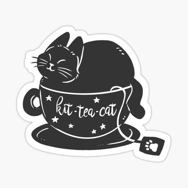 Kit-Tea-Cat Sticker
