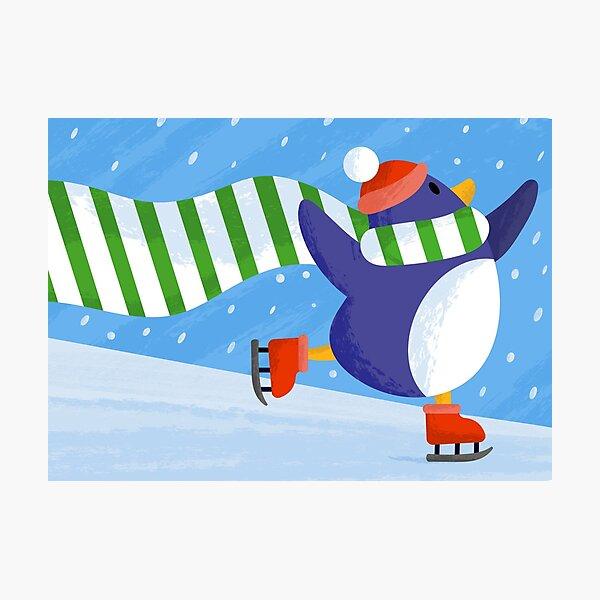 Skating Penguin! Photographic Print