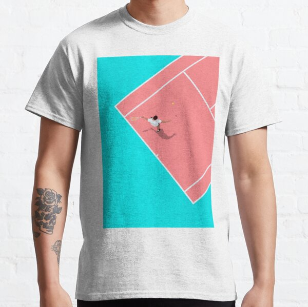 Pastel Colors Tennis Court From Above  Classic T-Shirt