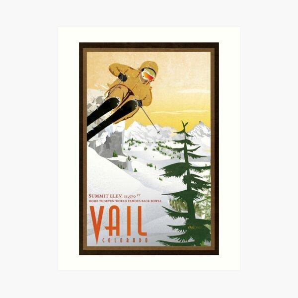 Retro Vail Colorado Print Art Print