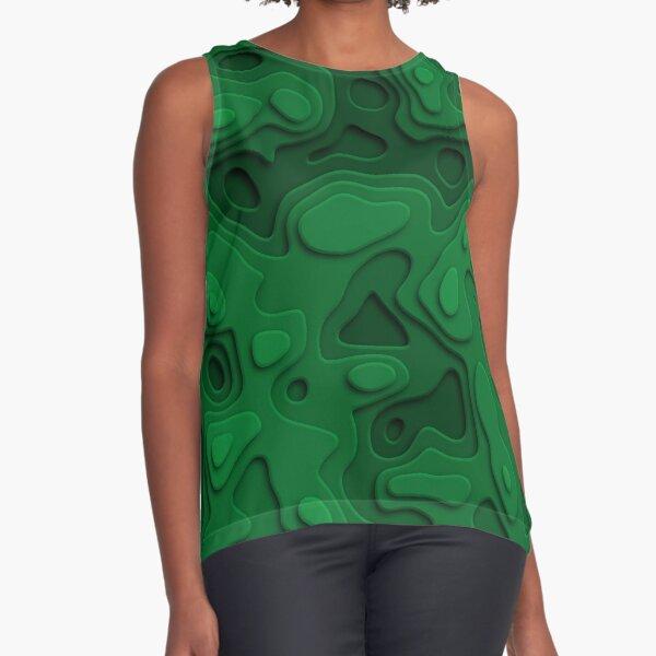 Green Jungle Sea Sleeveless Top