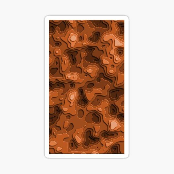 Orange Sunburst Sea Sticker