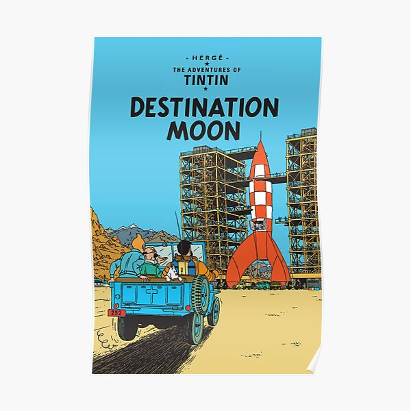 Adventures To Destination Moon Poster