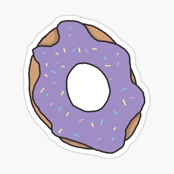 Purple donut Sticker