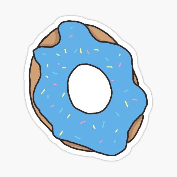 blue donut Sticker