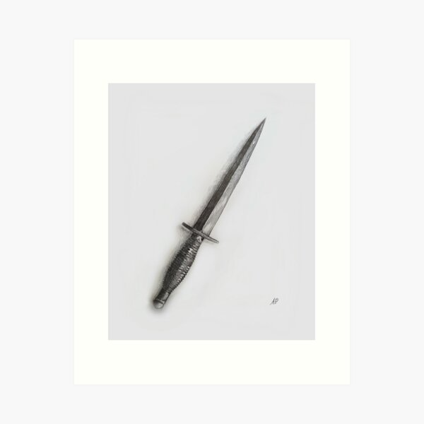 Randall British Commando Dagger Drawing Art Print