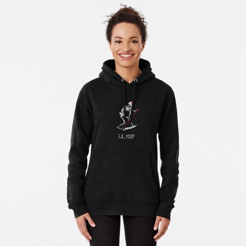 Lil peep Skeleton Grim reaper tattoo and official design Pullover Hoodie