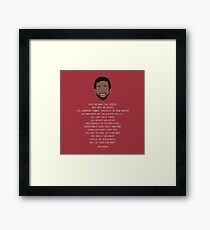 Tom Haverford-isms Framed Print