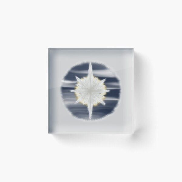 Bethlehem Star Acrylic Block