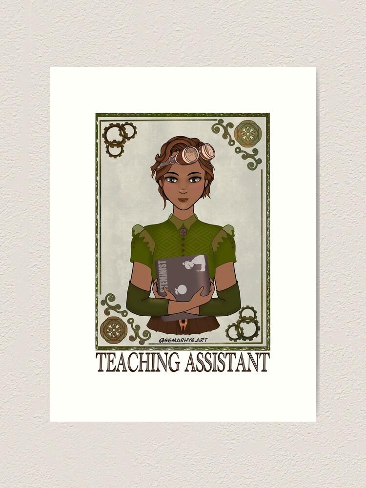 Alternate view of Teaching Assistant (STEAMpunk Art) Art Print