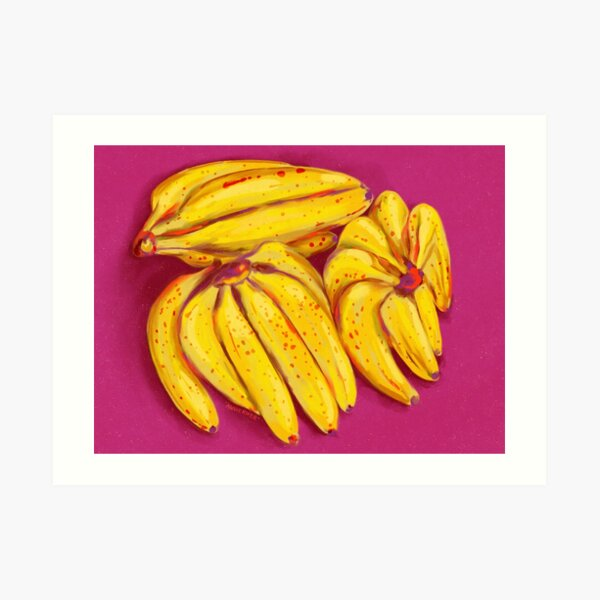 Three Banana Bunches Art Print