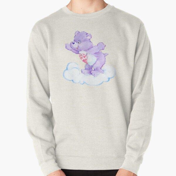 CARE CLASSIC BEARS purple bear 90S 80S RAINBOW Y2K 2000S nostalgia print Pullover Sweatshirt