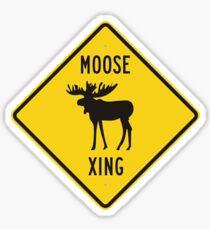 Moose Xing Sticker