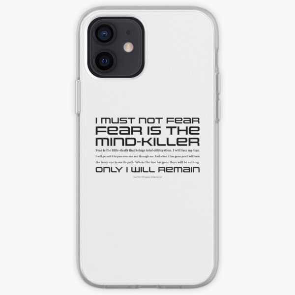 Dune Litany against Fear iPhone Soft Case