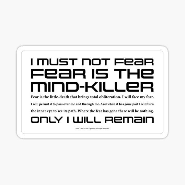 Dune Litany against Fear Sticker