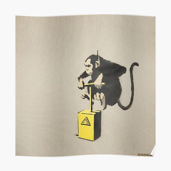 BANKSY Monkey Detonator Signed In Stencil Poster