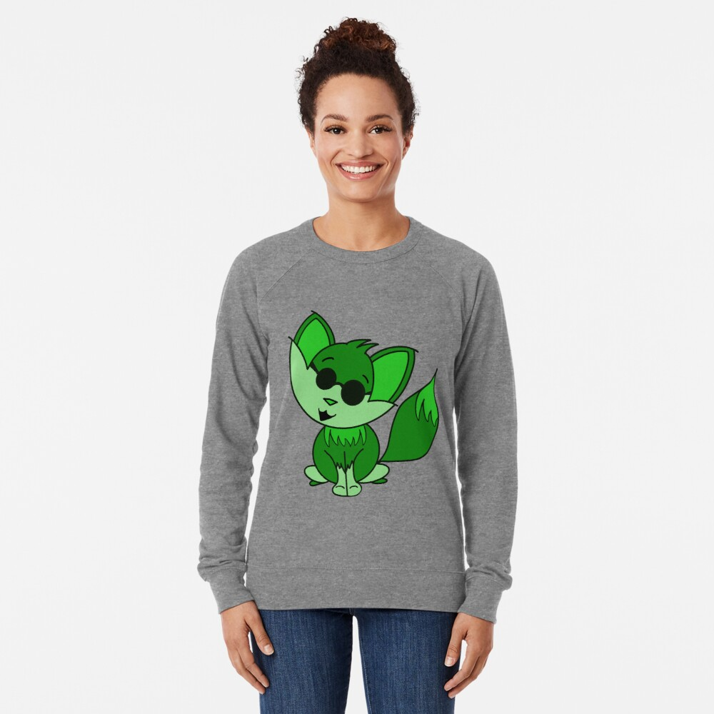 Cute Cool Fox Baby Green Lightweight Sweatshirt