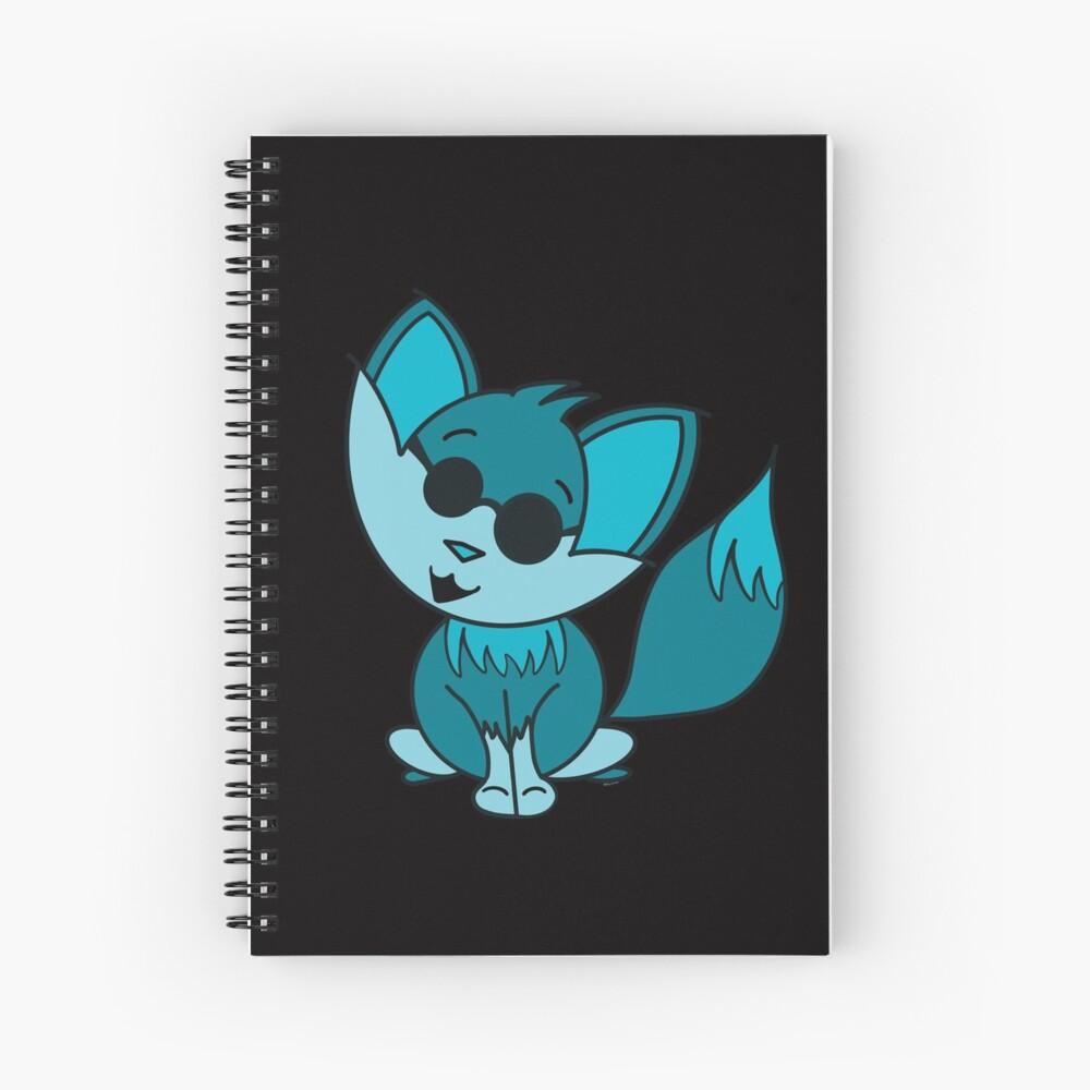 Cute Cool Fox Baby Teal Spiral Notebook