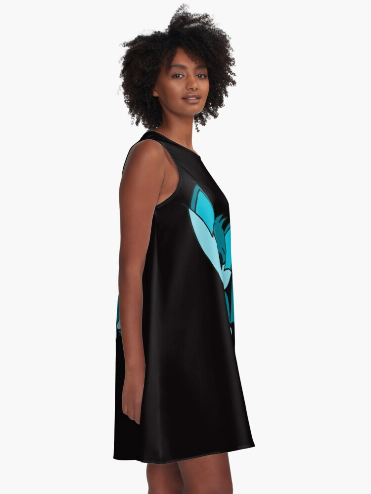 Alternate view of Cute Cool Fox Baby Teal A-Line Dress
