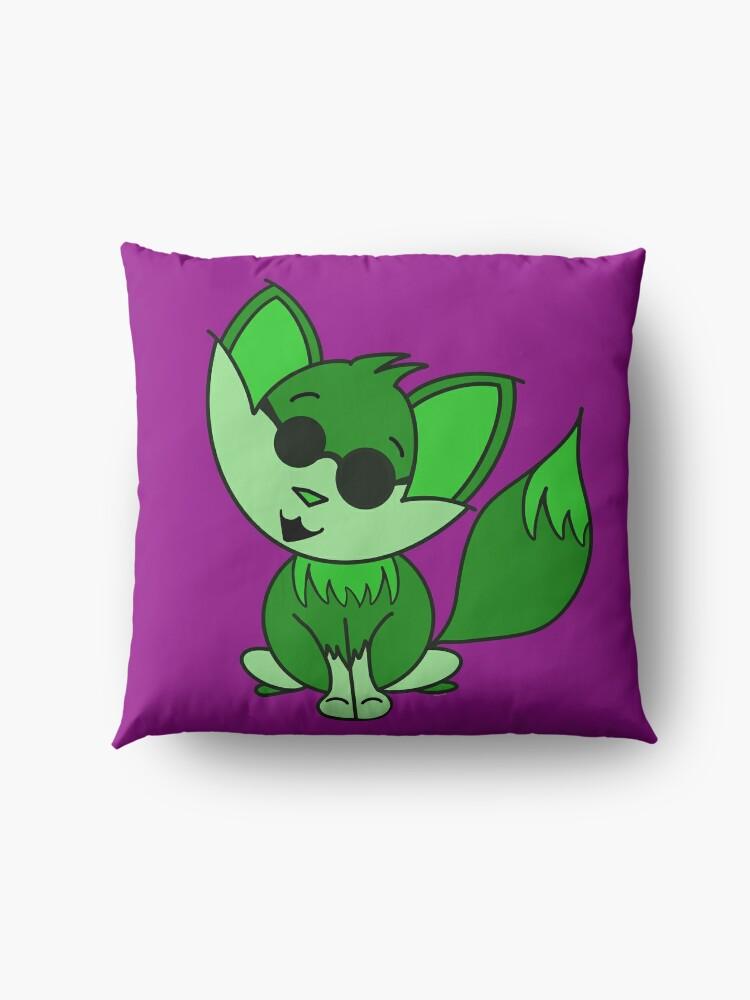 Alternate view of Cute Cool Fox Baby Green Floor Pillow
