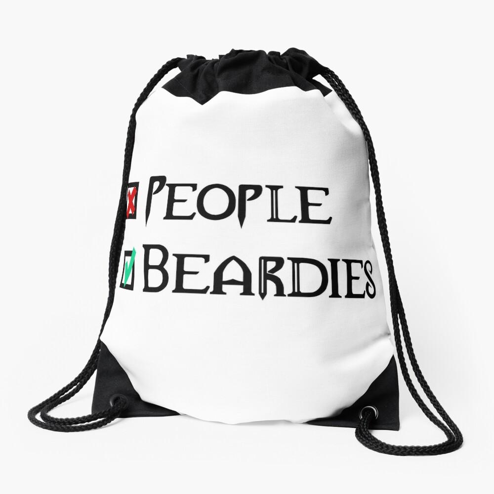 People - Nope, Bearded Dragons - Yes! Drawstring Bag