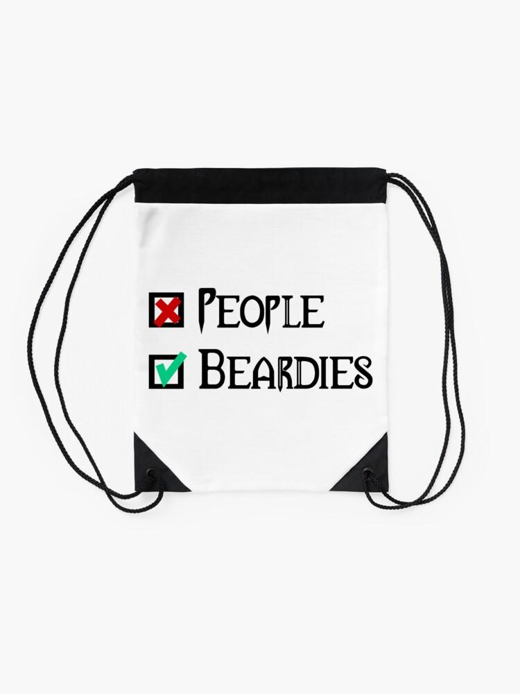 Alternate view of People - Nope, Bearded Dragons - Yes! Drawstring Bag