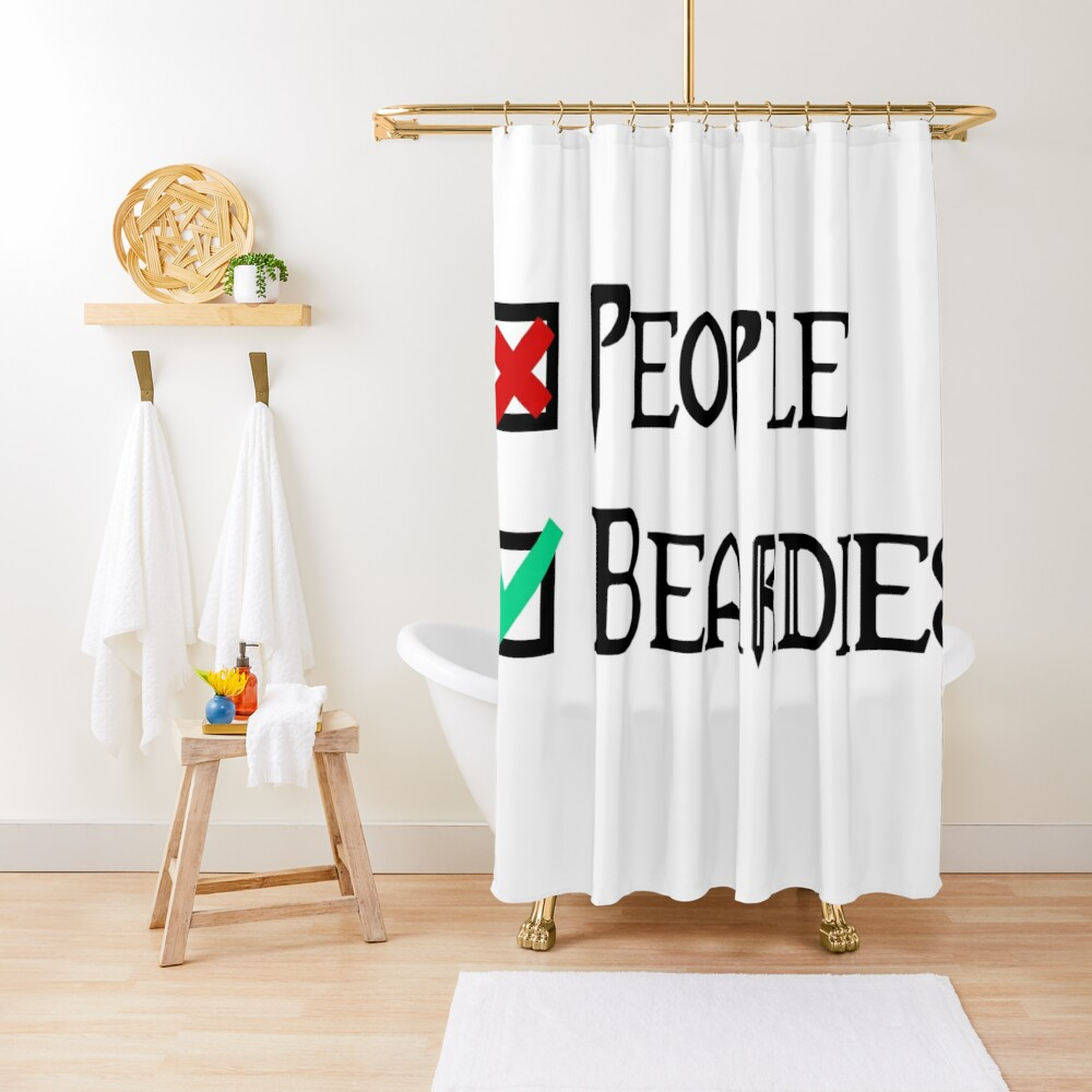 People - Nope, Bearded Dragons - Yes! Shower Curtain